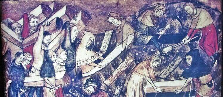 The Black Death, circa 14th century Europe