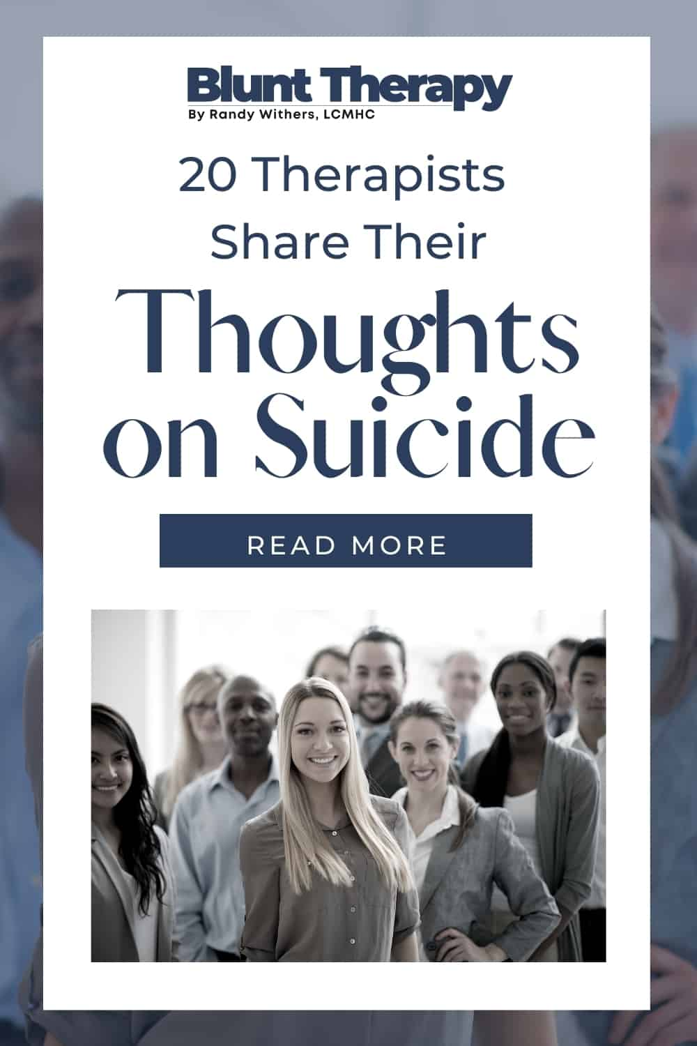 20 therapists share their thoughts on suicide