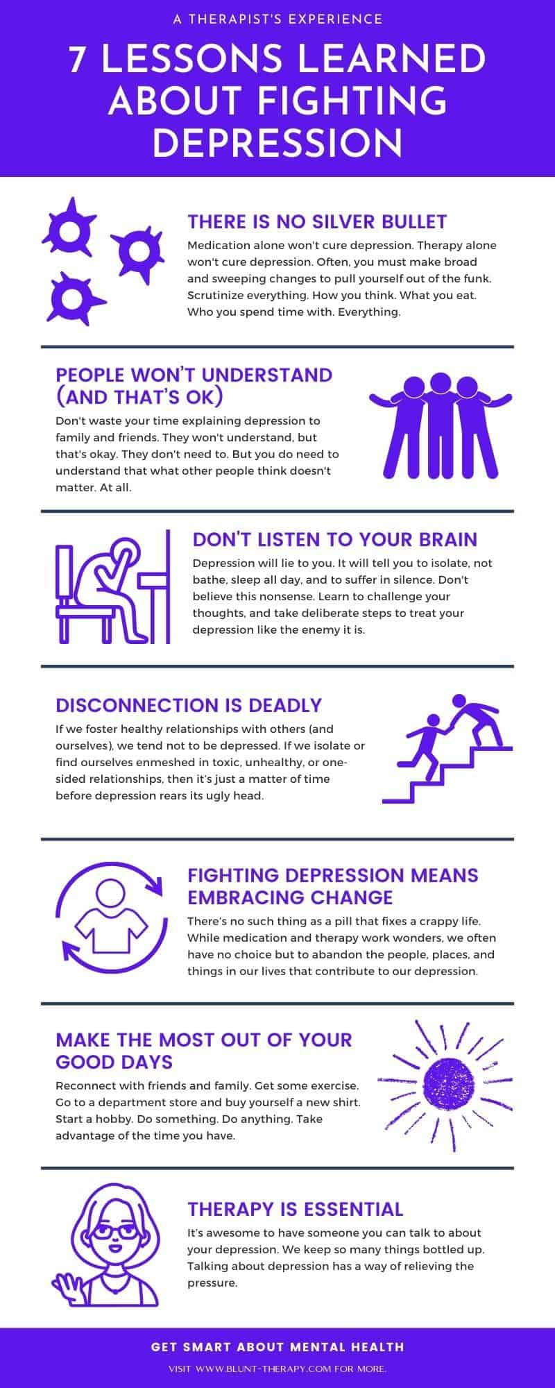7 lessons learned about fighting depression