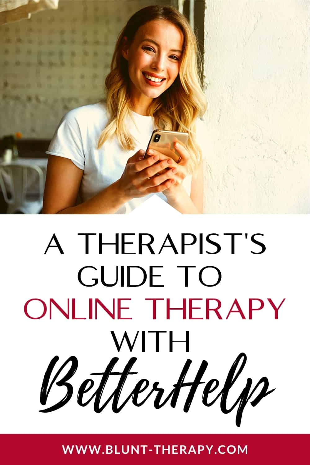 Online Therapy With BetterHelp Review Pinterest Graphic