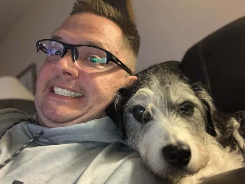 Randy and Daisy the emotional support dog