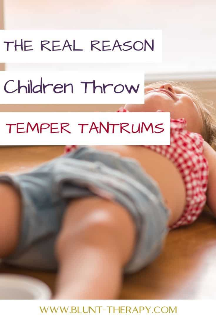 The Real Reason Why Your Kids Throw Temper Tantrums