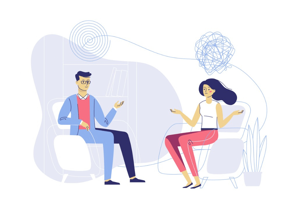 therapist and client in therapy session