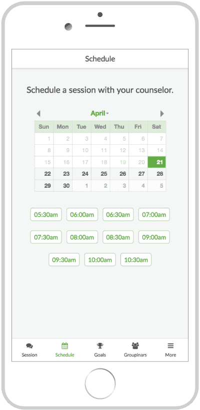 BetterHelp Full Schedule